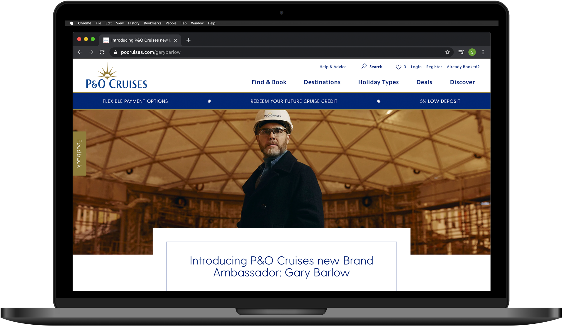 Image Of Gary Barlow In P&O Cruises' Launch Online